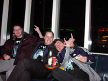Florian, Morten and Danny on the ferry