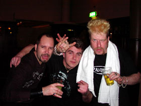 Roger, Danny and Johan at the nightclub!